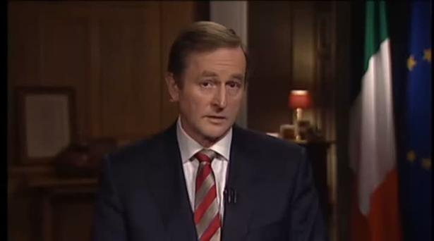 Taoiseach Enda Kenny spoke to the nation last night in a televised address.