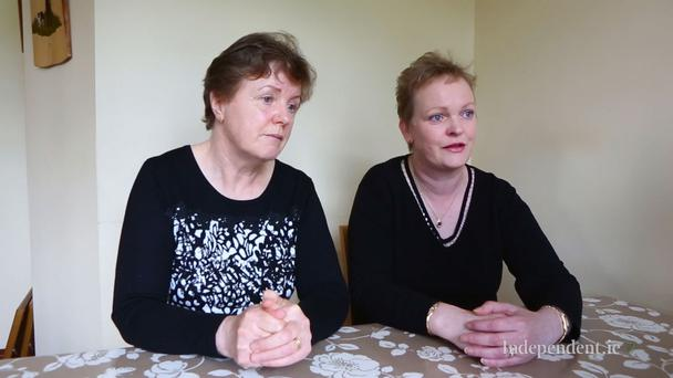Pat Heeran's sisters Sheila McCrann and Dooreen Keegan speak with Paul Williams