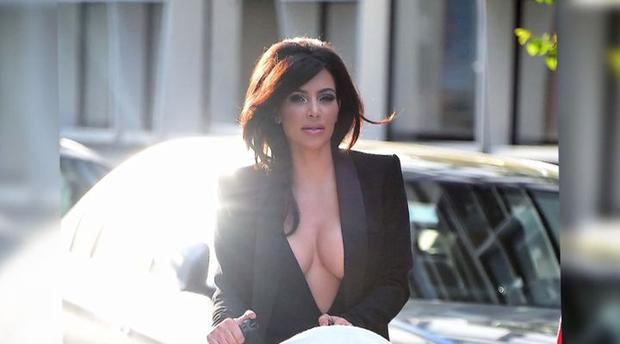 Kim Kardashian flashes a lot of skin on her latest outing