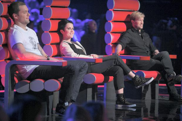 Voice of Ireland judges Bressie, Dolores O'Riordain and Kian Egan