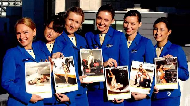 Ryanair cabin crew launch the annual calendar