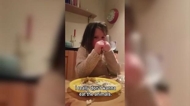Indie-Rose has refused to eat meat since the video was taken three months ago