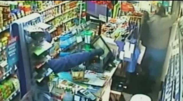 19-year-old thief Liam Redford began to panic when he realised he was trapped in the shop