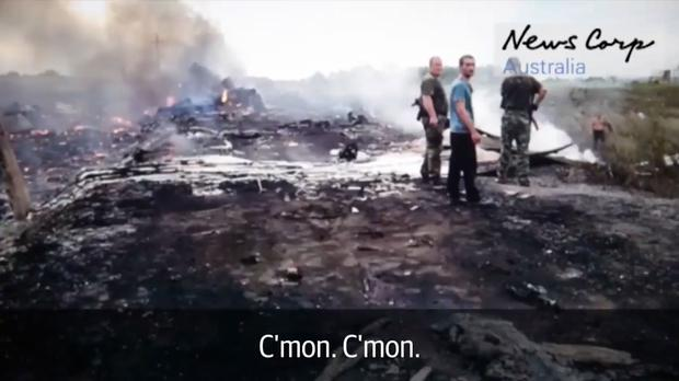 The Russian-back rebels are confusion over the plane's wreckage, asking where is the