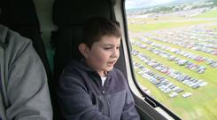 Stephen Reilly during the flight