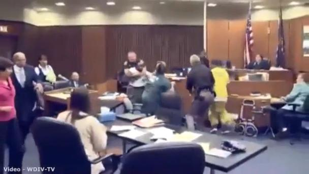 Mr Smith was removed from the court room after the incident, but he was not charged.