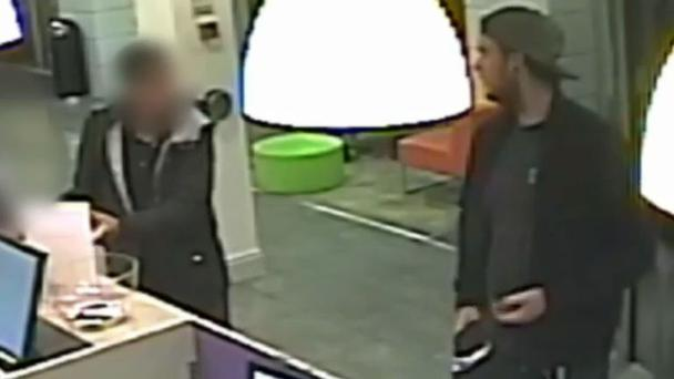 The incident was filmed on CCTV and recently released by Scotland Yard.