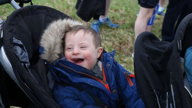 Evan Lucas (3) was diagnosed with Down Syndrome at three days old