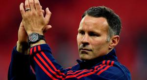 """Britain Football Soccer - Crystal Palace v Manchester United - FA Cup Final - Wembley Stadium - 21/5/16 Manchester United assistant manager Ryan Giggs celebrates after winning the FA Cup Reuters / Dylan Martinez Livepic EDITORIAL USE ONLY. No use with unauthorized audio, video, data, fixture lists, club/league logos or """"live"""" services. Online in-match use limited to 45 images, no video emulation. No use in betting, games or single club/league/player publications. Please contact your account representative for further details."""
