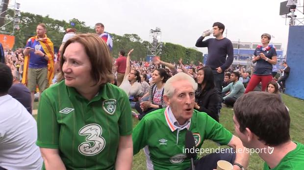 Christine and Val Fitzgerald speak to Independent.ie at the Euro 2016 Fanzone in Paris