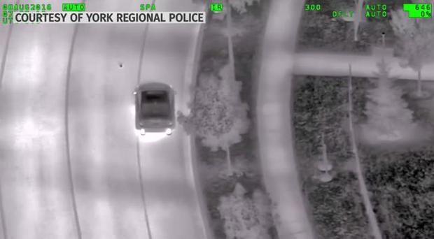 Driver hunting Pokemon catches the attention of police helicopter. Photo: York Regional Police.
