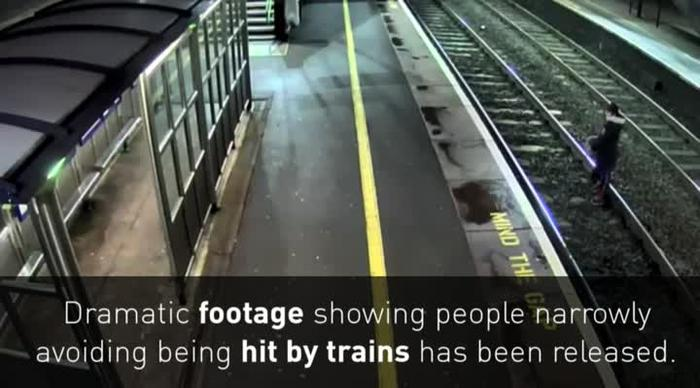 VIDEO - Unsettling Content: CCTV catches very near misses between speeding  trains and railway trespassers