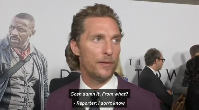 WATCH: Matthew McConaughy learns about death of actor Sam Shepard