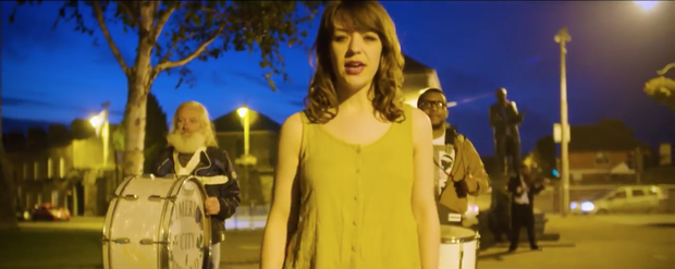 Emma Langford in her new music video. Photo: YouTube