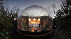 Bubble domes at Finn Lough