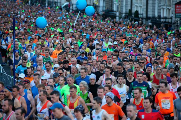Runners at the 2017 Dublin Marathon (Photo: Steve Humphreys)