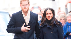 Prince Harry and Meghan Markle meet well-wishers as they arrive at the Nottingham Contemporary in Nottingham, to attend a Terrence Higgins Trust World AIDS Day charity fair on their first official engagement together. PRESS ASSOCIATION Photo. Picture date: Friday December 1, 2017. See PA story ROYAL Wedding. Photo credit should read: Jeremy Selwyn/Evening Standard/PA Wire