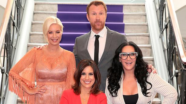 Denise Van Outen, Lucy Kennedy, Jason Byrne and Michelle Visage of new TV3 Show Ireland's Got Talent pictured as TV3 unveiled its programming plans for Autumn 2017 at The National Concert Hall ,Dublin. Pictures:Brian McEvoy No Repro Fee for one use