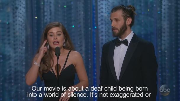 Ex-Hollyoaks Actress Rachel Shenton Uses Sign Language To Accept Oscar