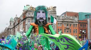 Performers during the St Patricks day parade in Dublin. Pic:Mark Condren 17.3.2017