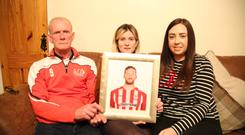 Ryan's father Lexie McBride, sister Caitlin and partner Mairead