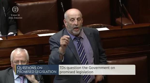 Deputy Danny Healy-Rae pictured in the Dail today
