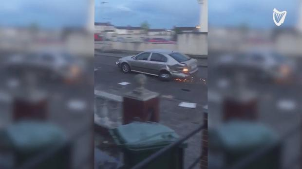 Insane Footage Emerges Of Cars Recklessly Crashing Into Each Other In Dublin Suburb