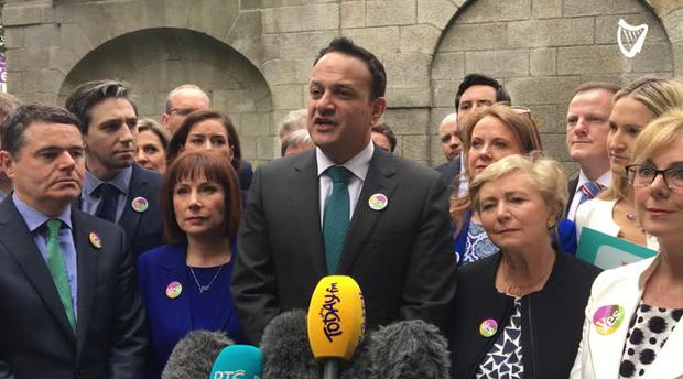 Leo Varadkar speaks to reporters