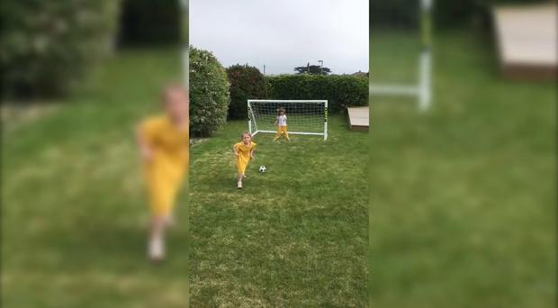 Watch: Seven-year-old Lola draws inspiration from Mo Salah for goal celebration