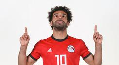 GROZNY, RUSSIA - JUNE 11: Mohamed Salah #10 of Egypt poses for a portrait during the official FIFA World Cup 2018 portrait session at The Local Hotel on June 11, 2018 in Gronzy, Russia. (Photo by Patrick Smith - FIFA/FIFA via Getty Images)