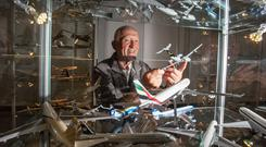 REPRO FREE Model Aircraft Collector Michael Kelly.Pic Arthur Ellis.