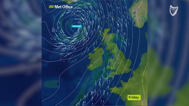 VIDEO: Status orange warning issued for 13 counties as fears grow over  impact of Storm Callum