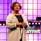 Apple's Vice President of Environment, Policy and Social Initiatives Lisa Jackson speaks during the Web Summit 2018 in Lisbon, Portugal. Photo: Rita Franca/NurPhoto via Getty Images