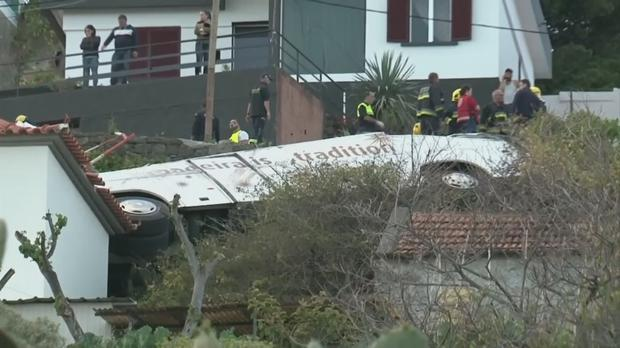 VIDEO: Several dead after tour bus crashes in Madeira
