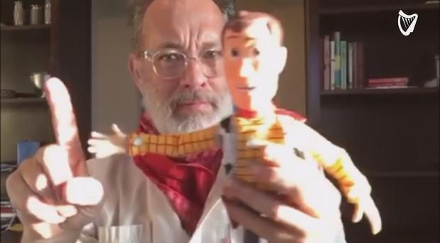 Tom Hanks records endearing Toy Story themed video for Irish twins who were born conjoined