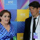 Fiona Coghlan and Donncha O'Callaghan at RTÉ in Donnybrook, Dublin
