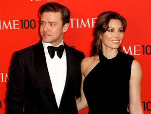 Justin Timberlake and Jessica Biel arrive at the Time 100 gala celebrating the magazine's naming of the 100 most influential people in the world for the past year in New York. Photo: Reuters