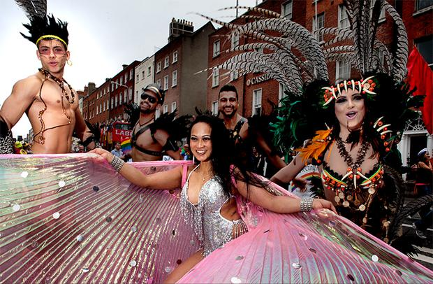 Vanessa Dublin who with thousands of people that took to the streets of Dublin today as part of the Gay Pride Parade.