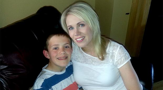 THANKS MAM: Jack O'Brien with his mother Cassandra – she donated her kidney to get him off dialysis