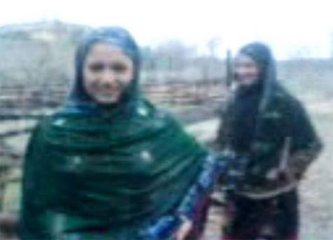 A still from the video which allegedly shows the two girls