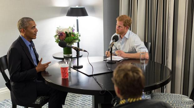 Prince Harry interviews Barack Obama (The Obama Foundation/PA)
