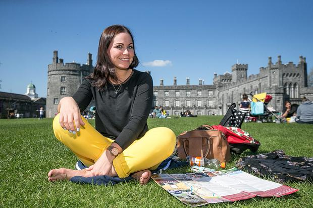 Judith Huddleston from Co Armagh was taking the last chance to enjoy the sunshine in Kilkenny Castle Park before heading home after her short break