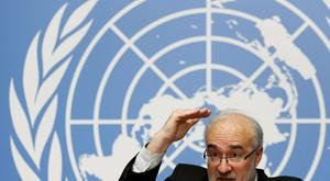 Michel Jarraud, secretary-general of the World Meteorological Organisation (WMO), at the presentation of the report in Geneva