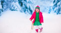 Little girl enjoying the snow Photo: Deposit