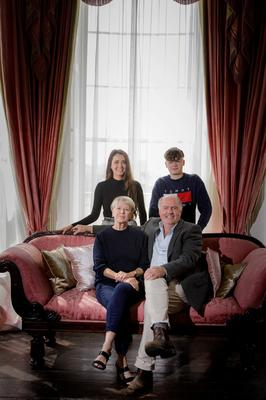 Edward Walsh, Constance Cassidy, Eddie Walsh and Constance Walsh, at Lissadell House in Sligo. Photo: James Connolly