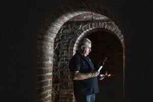 Patrick Mulcahy of Ballinwillin House Farm, Mitchelstown, Co Cork pictured in his wine cellar which stores wine from the families Hungarian Vineyard. Picture: Clare Keogh