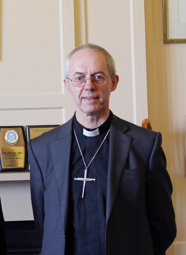 The Archbishop of Canterbury Justin Welby as he met with actor Russell Crowe at Lambeth Palace