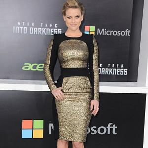 Alice Eve steps out on the red carpet for the Star Trek LA premiere
