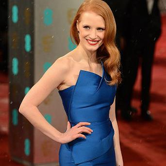 Jessica Chastain couldn't help but be excited by her giant billboard