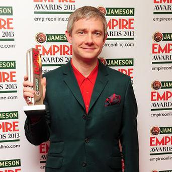 Martin Freeman said shooting during long, cold nights can be hard